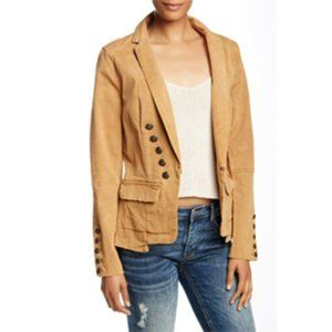 Free People Structured Washed Military Jacket
